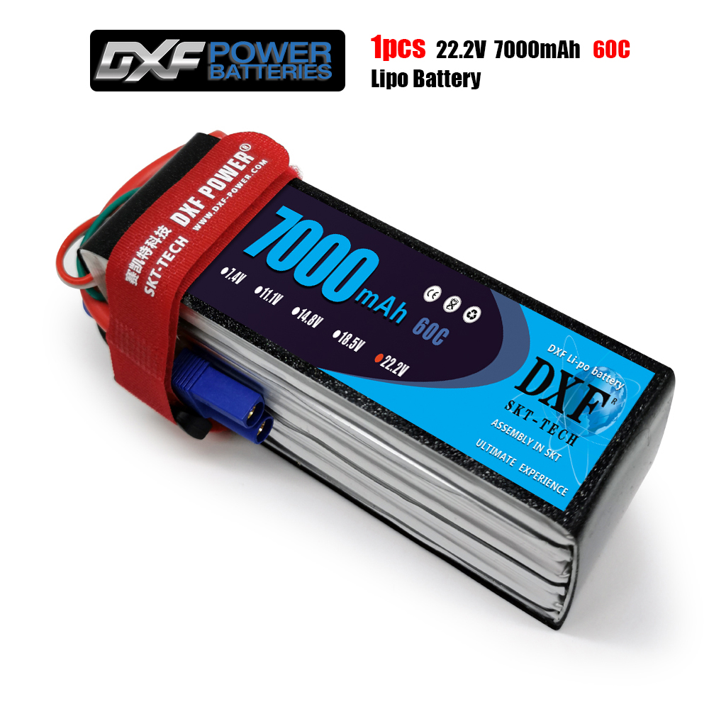 DXF 6S Lipo Battery 22.2V 7000mAh 60C Max120C for RC Airplane Helicopter Quadrotor AKKU car truck boat drone image
