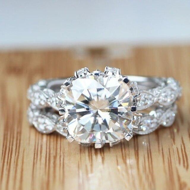 Фото женский набор колец из серебра 925 пробы обручальное кольцо цена