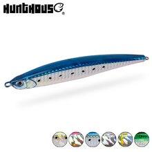 Hunthouse imprensa isca lápis iscas de pesca afundando 125mm 40g isca atum mar baixo poleiro longa fundição fiação mar duro jerk iscas