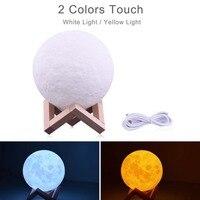 Dropshipping stampa 3D Galaxy Moon Lamp Night Light USB ricaricabile lampada da scrivania creativa decorazioni per la casa amante della camera da letto regalo per bambini