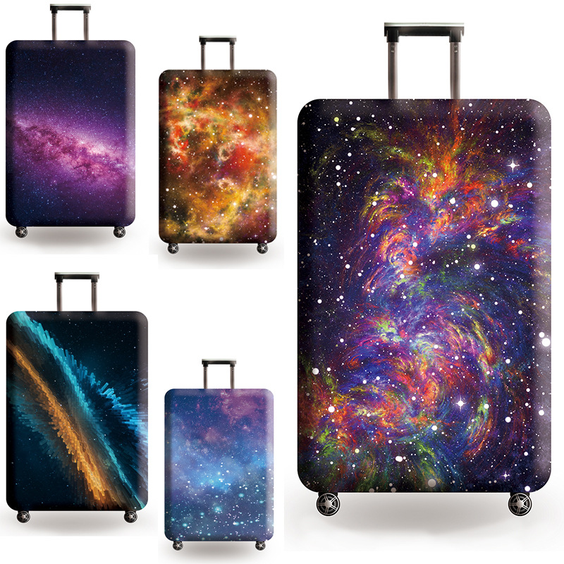 Starry Sky Print Traveling Luggage Protector Cover Suitcase Elastic Dust Case For 18-32 Inch Trolley Bag Travel Accessories 659