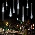 Капли дождя  светодиодные метеоритные огни 11 8 дюймов 8 трубок 144 светодиодов (белый) (штепсельная вилка США)