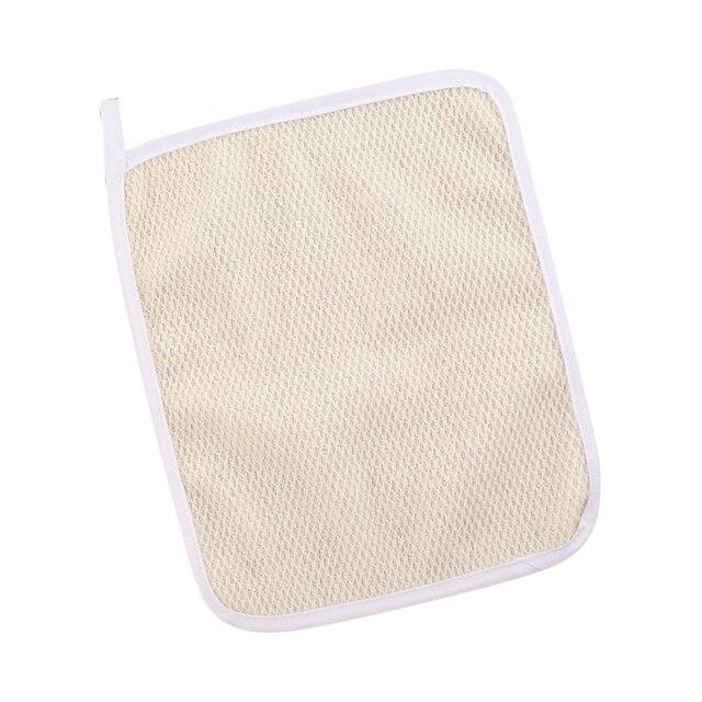 Exfoliating Face Body Wash Cloths Towel Soft Weave Bath Cloth Exfoliating Scrub Cloth Massage for Women Man 5