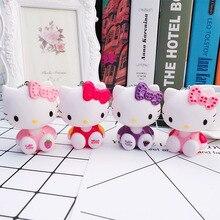 Korean Version of The Cute Hello Kitty Keychain Key Ring Cartoon Girl Bag Pendant Car Ladies Jewelry Gift
