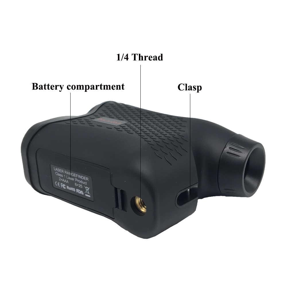 Telémetro láser estándar telémetro telescopio para caza golf telémetro láser trena láser ferramentas probador de velocidad