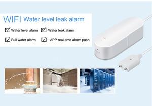 Image 5 - WIFI sygnalizator przecieku wody inteligentne mobilne czujki alarmy czujnik alarmowy poziomu wody wyciek Home Securit kontrola aplikacji bezpieczeństwo w domu