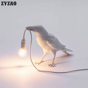 Bird-Lamp Living-Room Home-Decor Nordic-Designer for Cartoon Gifts Study Led-Table-Light
