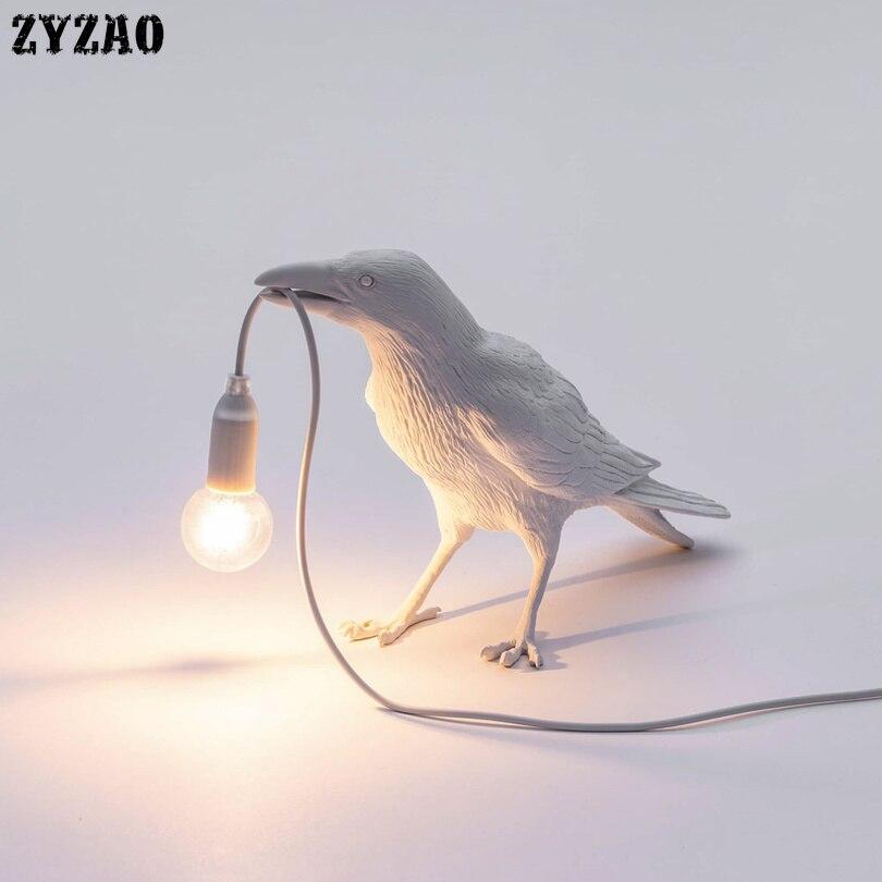 Nordic Designer Vogel Lamp Tafel Lampen voor Woonkamer Cartoon Geschenken Kinderen Studeerkamer Home Decor Art LED Tafel Licht armaturen
