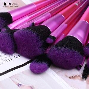 Image 2 - DUcareแปรงแต่งหน้า15PCS Professional Synthetic Hairสำหรับแต่งหน้าอายแชโดว์Foundation Blush Set Beauty Necessity