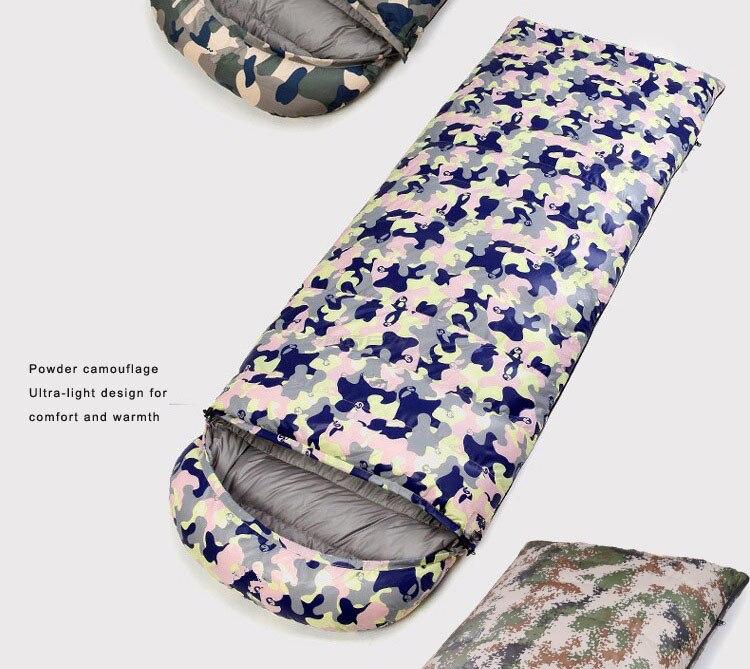 estações adulto camuflagem para baixo saco de dormir primavera outono