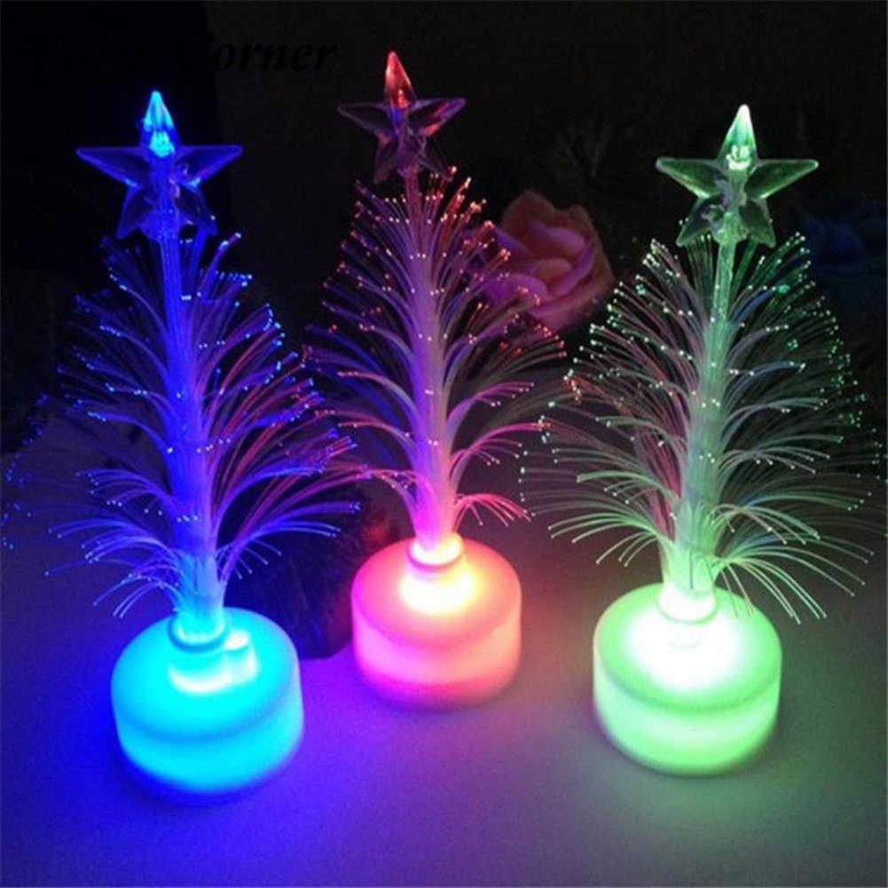 سعيد السنة الجديدة 2021 ديكور المنزل عيد الميلاد شجرة عيد الميلاد متعدد الألوان تغيير مصباح ليد مصباح ديكور المنزل حفل زفاف