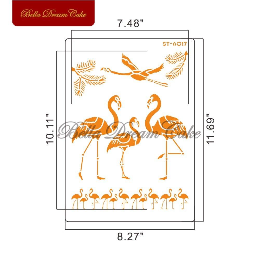 Купить трафареты для торта с изображением фламинго и животных настенные