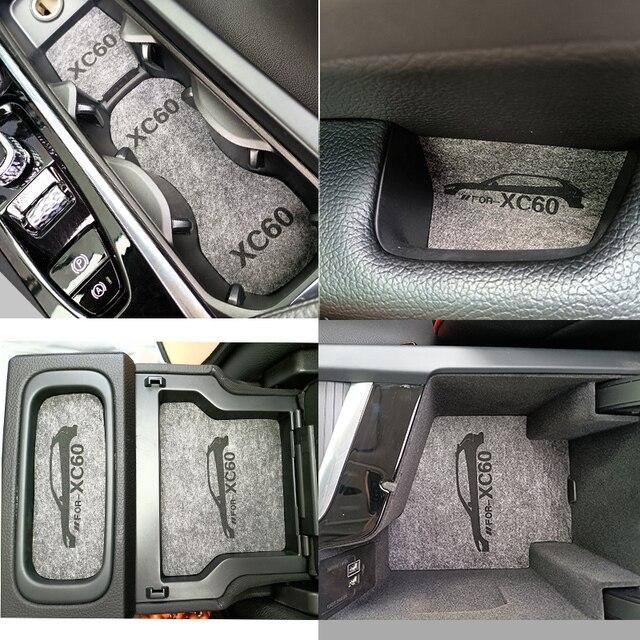 Suitable for Volvo xc60 2018 2019 2020  xc90 s90 xc40 v40 felt door slot pad auto parts Accessories