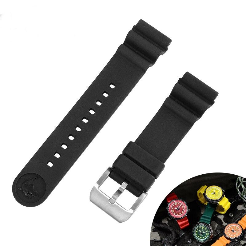 San Martin bracelets de montre de haute qualité remplacer le bracelet en caoutchouc fluoré avec boucle 22mm 20mm