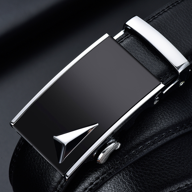 Genuine Leather Strap Top Quality Automatic Buckle black Belts 2