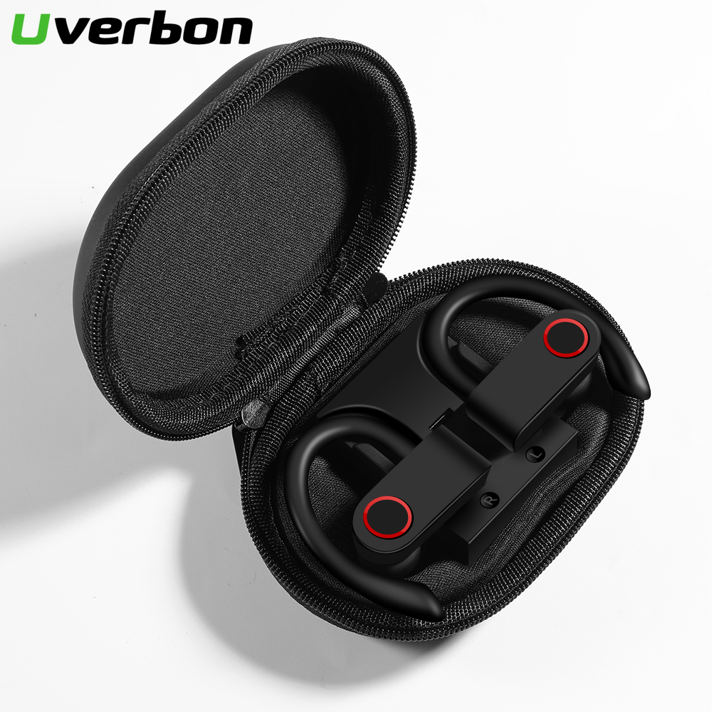 A9 TWS <font><b>Wireless</b></font> Bluetooth 5.0 <font><b>Headphones</b></font> <font><b>Sports</b></font> Earphones Ear Hook <font><b>Running</b></font> Noise Cancelling Stereo Earbuds With MIC Waterproof image