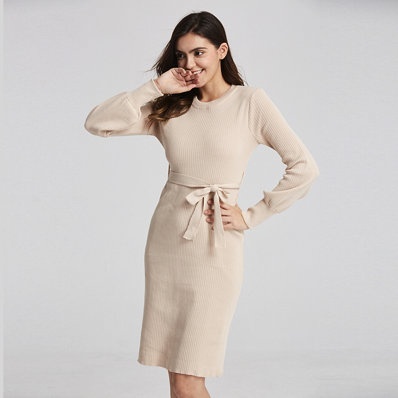 2019 New Warm Vestidos Sweater Women Autumn Winter Long Sweater Knitted Dresses Loose Maxi Over Size Lady Bodycon Robe Dresses