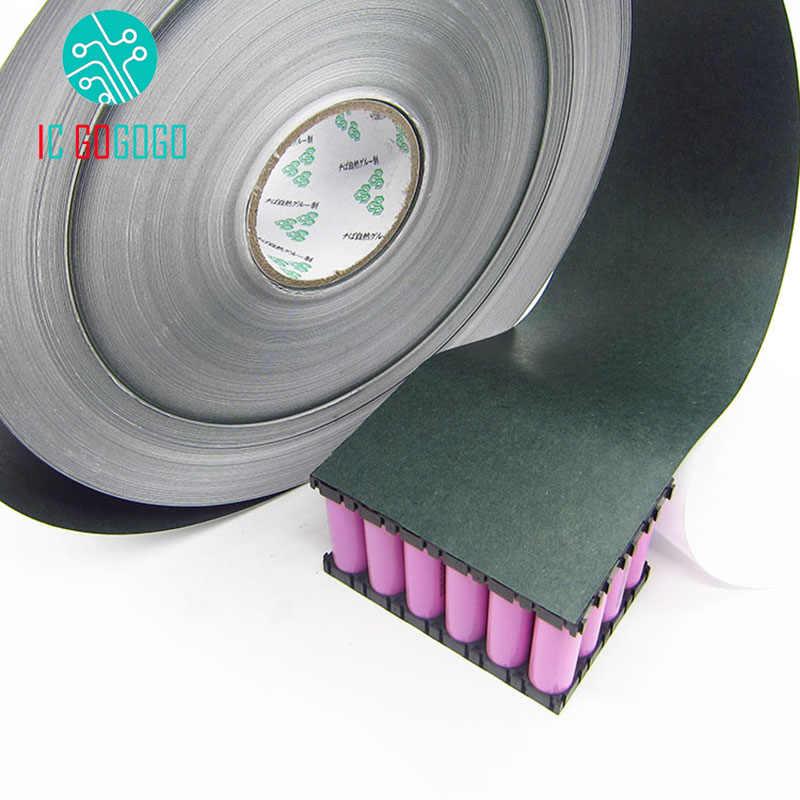 1m 120mm 18650 di Isolamento Della Batteria Guarnizione Carta Orzo Li-Ion Cellulare Pack Isolante Colla Patch Elettrodo Positivo Isolato Pastiglie