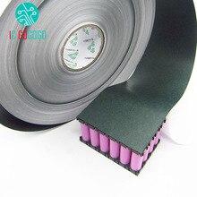 Junta aislante para batería de 1m, 120mm, 18650, paquete de papel de cebada, paquete de iones de litio, pegamento aislante de celda, almohadillas aisladas de electrodos positivos para peces