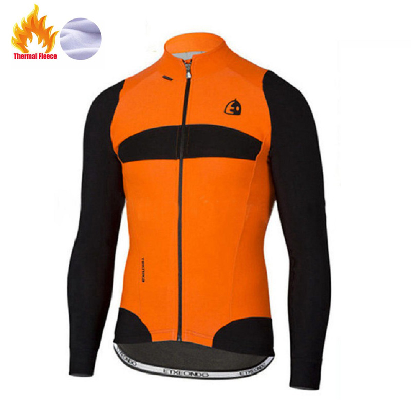 Etxeondo Winter Thermal Fleece jacket Cycling Jersey long sleeve Ropa ciclismo hombre Bicycle Wear Bike Clothing maillot Ciclism