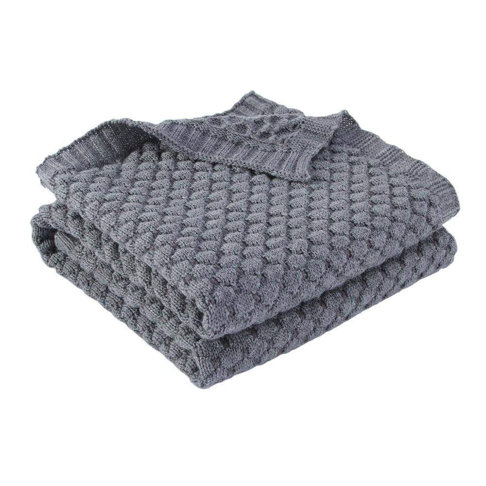 Baby Blankets Knitted Newborn Muslin Swaddle Wrap Envelopes Blankets Super Soft Solid Infant Kids Stroller Bed Sofa Quilt 100*80