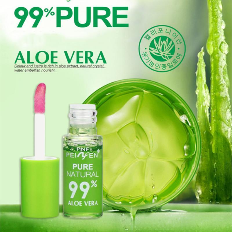 1 Pcs Natural Aloe Lip Gloss Hygienic Lipstick Transparent Color Changing Lip Balm Moisturizing Waterproof Lip Glaze TSLM1