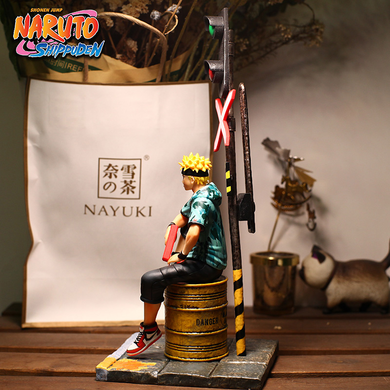 Free shipping Anime NARUTO Uzumaki Naruto Fashion Suit Sitting Ver. PVC Action Figure Collection Model Doll Toys B19 1
