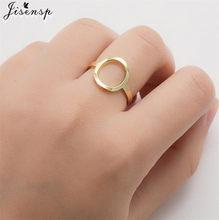 Modne stalowe pierścienie ze stali nierdzewnej dla kobiet Vintage geometryczne okrągłe otwarcie regulowany pierścień wieżowych Midi Ringen nowa biżuteria 2021