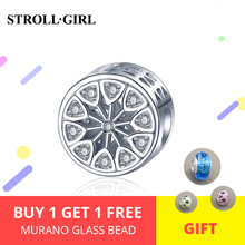 Strollgirl New Arrival 925 Sterling Silver Ferris Wheel Beads With Zircon Fit DIY Bracelet Women Fashion Jewelry Accessorise