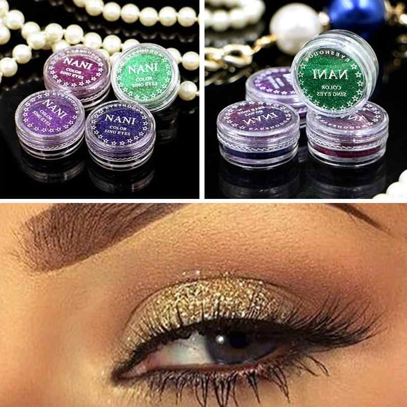 Shimmer Occhi Lip Viso Trucco Glitter In Polvere In Bianco E Nero Occhi Ombra Splendente Sposa Polvere di Perla Glitters Trucco di Bellezza