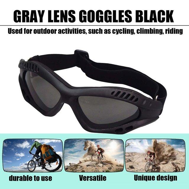 Óculos de proteção da motocicleta ciclismo óculos elásticos cs tactical óculos de segurança à prova de vento anti-poeira esportes ao ar livre 2