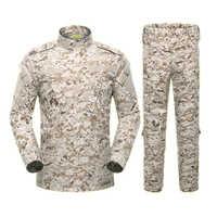 5Color Men Army Military Uniform Tactical Suit ACU Special Forces Combat Shirt Coat Pant Set Camouflage Militar Soldier Clothes