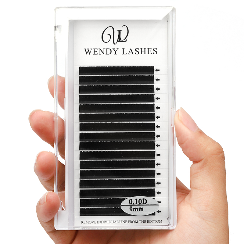 16 Lines Lash Extension 0.07/0.10/0.12/0.15 Thickness Silk Eyelash Extensions Natural Soft Faux Mink Eye Lashes Lashes Tools