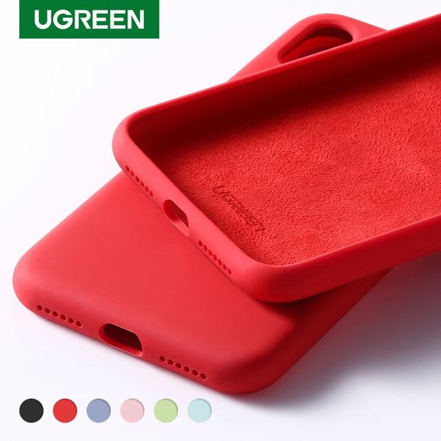Ugreen Case For iPhone 7 8 X XS XR Case Black Blue Gray Silicone For Apple iPhone 7 8 X XS Case For iPhone 7 Case