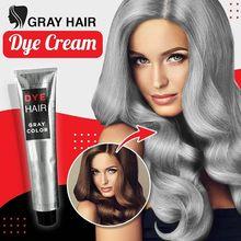 100ml cor da tintura de cabelo unisex diy moda cinza cor prata super cinza creme de cabelo cuidados com o cabelo & estilo 2020 novo transporte da gota