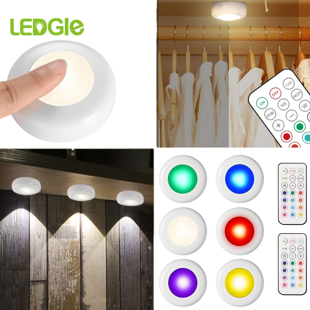 2020 New Remote 12 Colors Cabinet Lamp RGB Wardrobe Light For Kitchen Bedside Corridor Lamp As Children LED Night Cabinet Lamps