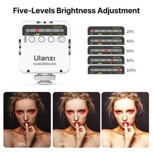 Image 4 - Ulanzi VL49 Mini LED Video Light Photography 6W Dimmable CRI95+ with Cold Shoe for Canon Nikon Sony DSLR Camera Vlog Fill Light