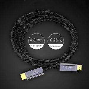 Image 2 - 8K เส้นใย Ultra HD สาย HDMI 2.1 CABLE 8K @ 120Hz Optical HIFI Audio สายเคเบิล HD (UHD) สายวิดีโอ 48Gbs สายไฟ HDR 4:4:4