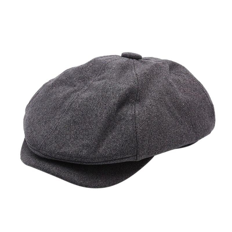 Мужская саржевая хлопковая восьмипанельная шляпа женские Бейкер кепки для мальчиков ретро большие шляпы мужские черные берет газетчика кепки
