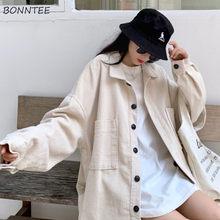 Grund Jacken Frauen Retro Chic Übergroßen Harajuku Trendy Herbst Damen Streetwear Alle-spiel Einreiher Ins Jugendliche Outwear Mantel