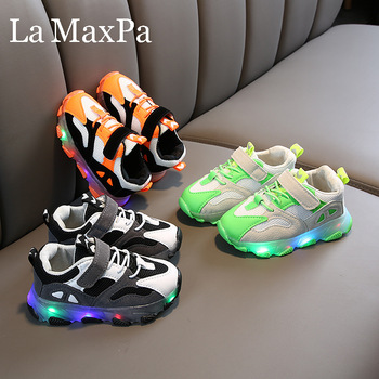 2020 Summer New Kids Led Shoes Breathable Children Sneakers with Backlight Led Shoes for kids Children Glowing Sneakers image