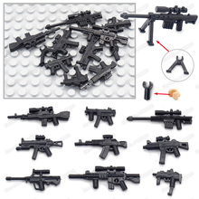 Soldier Weapons Submachine Guns Set Military Figures Building Block Assemble Army ww2 Equipment Model Child Christmas Gifts Toys