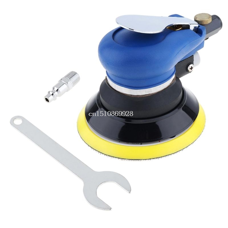 6 Inch 10000rpm Pneumatic Palm Random Orbital Sander Polisher Grinding Polishing 15x12cm