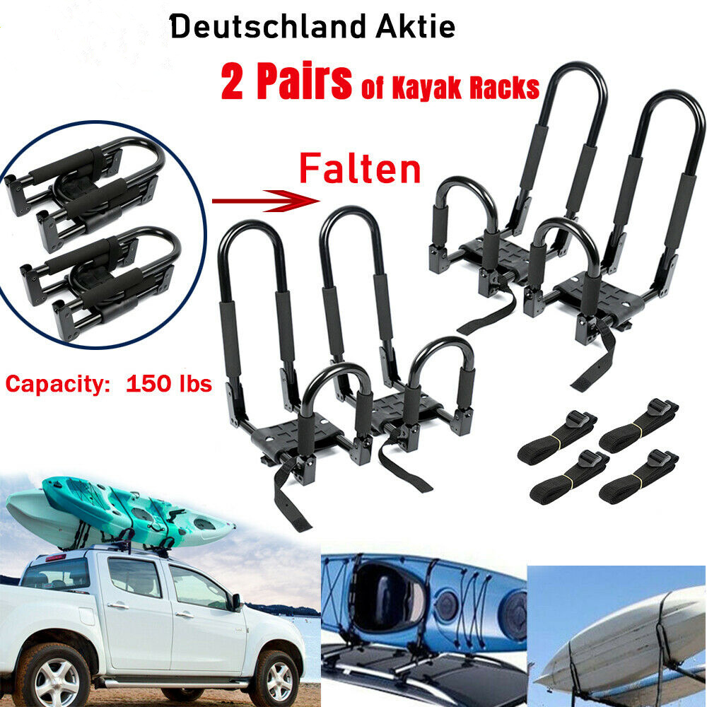 Kayak Roof Carrier >> Us 55 99 Universal 2 Pairs Foldable J Bar Rack Hd Kayak Carrier Canoe Boat Surf Ski Roof Top Mount Car Suv Crossbar Kayak Roof Rack Black In Rowing
