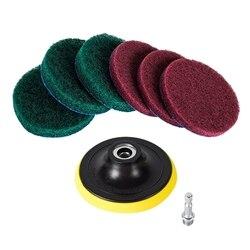 4 Cal wiertarka Power Brush płytka Scrubber druciana gąbka zestaw do czyszczenia  Heavy Duty urządzenia do oczyszczania gospodarstwa domowego (wiertarka nie wchodzi w skład zestawu) w Tarcze polerskie od Narzędzia na