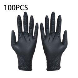使い捨て黒手袋 100 個家庭用クリーニング洗濯手袋ニトリル実験室ネイルアート医療タトゥー帯電防止手袋