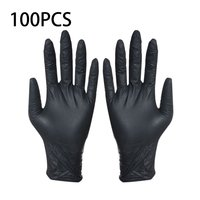 Disposable Black Gloves 100pcs Household Cleaning Washing Gloves Nitrile Laboratory Nail Art Medical Tattoo Anti Static Gloves|Safety Gloves| |  -