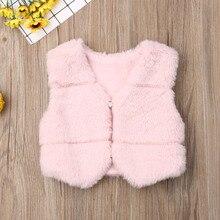 Новинка; сезон осень-зима; модный детский жилет из искусственного меха для маленьких девочек; милое плотное теплое пальто принцессы для маленьких девочек; жилеты для малышей; верхняя одежда