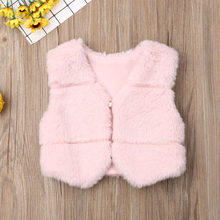 New Fall Winter Fashion Kids Baby Girls Faux Fur Vest Little Girls Princess Cute Thick Warm Coat Toddler Waistcoats Outerwear(China)