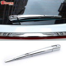 For Kia Sportage QL 2017 2018 2019 2020 Chrome Rear Trunk Window Wiper Arm Blade Cover Trim Overlay Nozzle Molding Car Styling